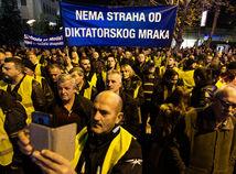 Čierna hora, Podgorica, protest, žlté vesty