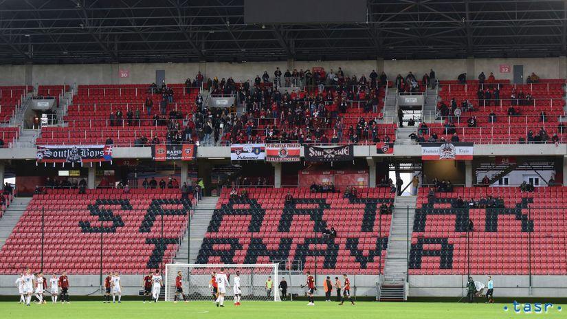 SR futbal FL 18. kolo Trnava Trenčín fanúšikovia