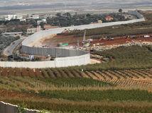 libanon, izrael, hranica, múr, vojaci