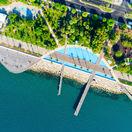 Limassol, Cyprus, promenáda, more