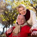 dôchodci, penzisti, pár, manželia, staroba