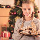 vianoce, koláčiky, vianočná večera, pečenie, dievča