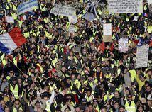Francúzsko, Paríž, protest, žlté vesty