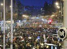 Maďarsko, protest, Budapešť