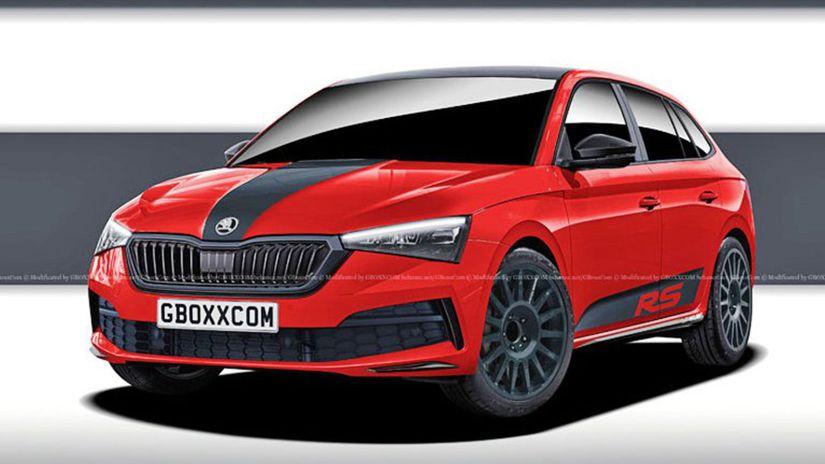 Škoda Scala RS - vizualizácia