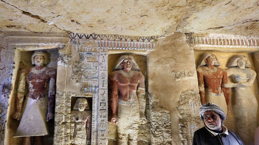 Egypt archeológia hrobka kňaz objav