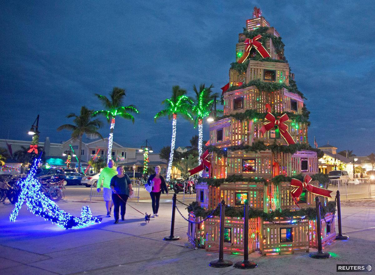 Florida, Vianoce, stromček, ozdoby, svetielka, sviatky,