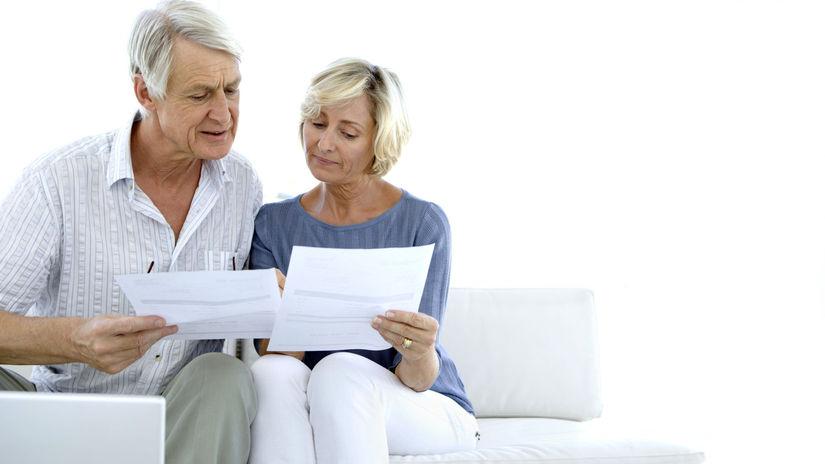 dôchodci, seniori, dôchodok, manželia, zmluva