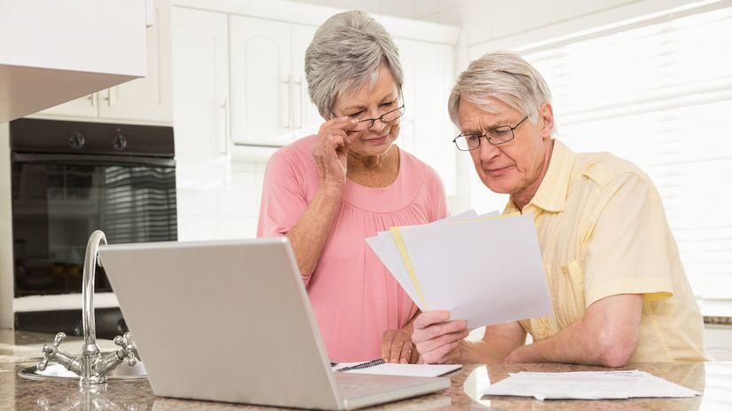 dôchodci, účty, penzia