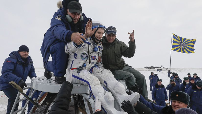 Kazachstan Rusko vesmír ISS kozmonauti návrat
