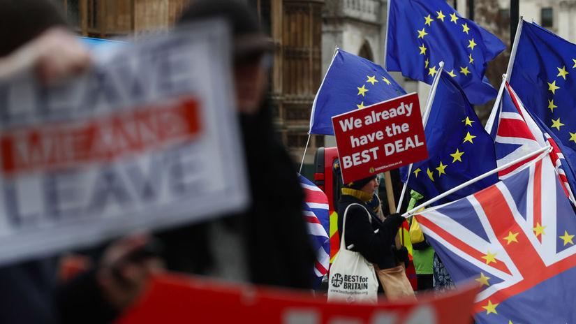 protest Brexit britania demonštrácia
