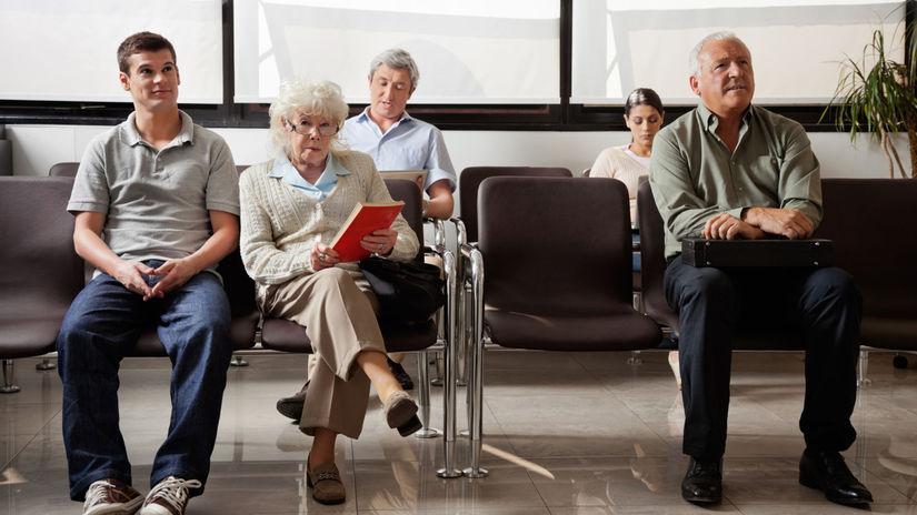 lekár, čakáreň, pacienti