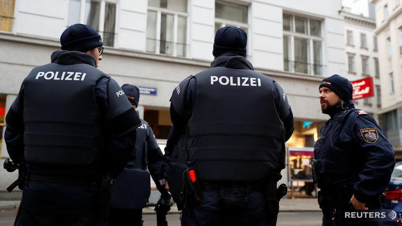 Viedeň, Rakúsko, streľba, polícia, polizei