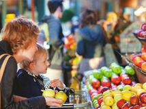 nákup, jedlo, ovocie, obchod, potraviny