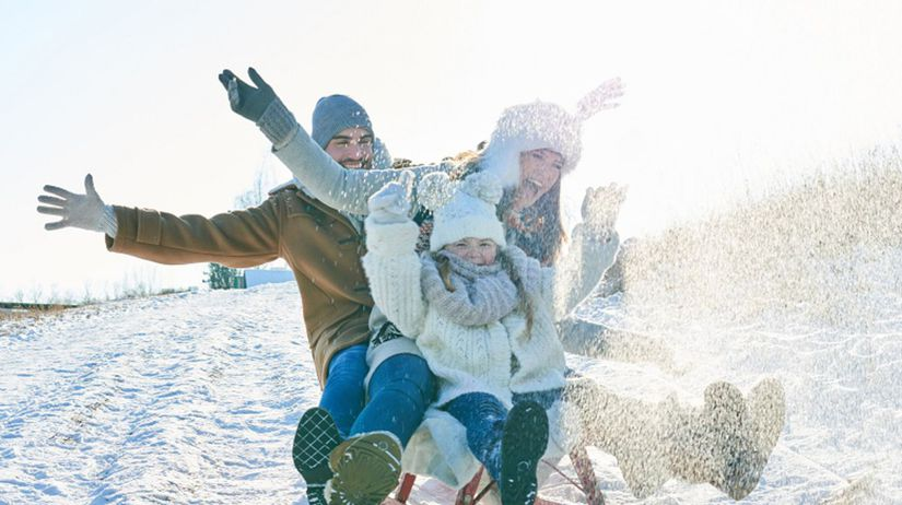 sánkovanie, zima, sneh, rodina, dovolenka,...