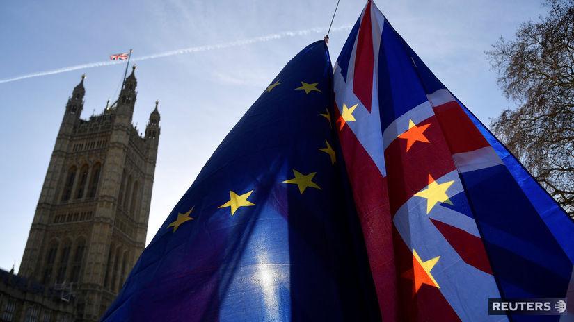 británia, brexit, EÚ, vlajky