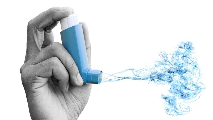 inhalátor, dýchanie, pľúca, astma