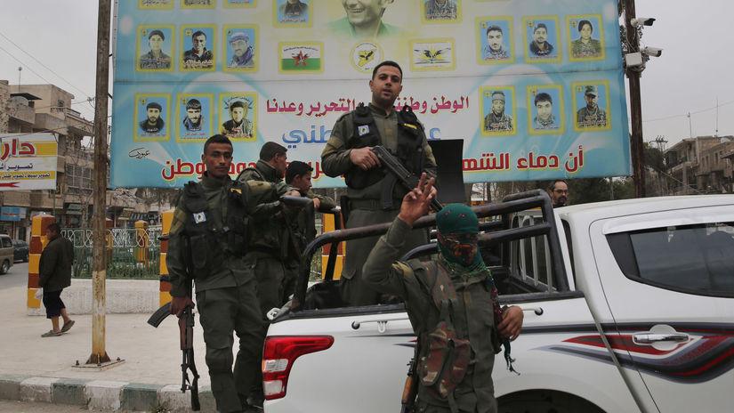 Sýria kurdi vojaci, povstalci, militanti,