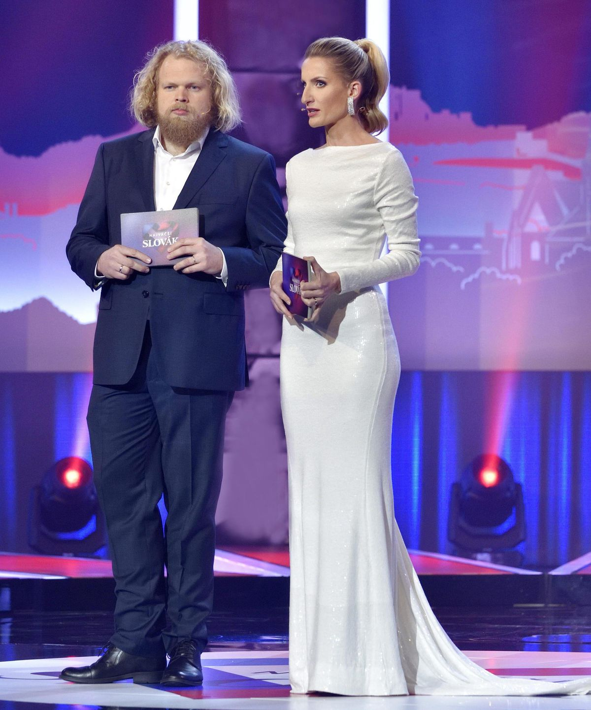 Adela Vinczeová a jej kolega Štefan Chrappa