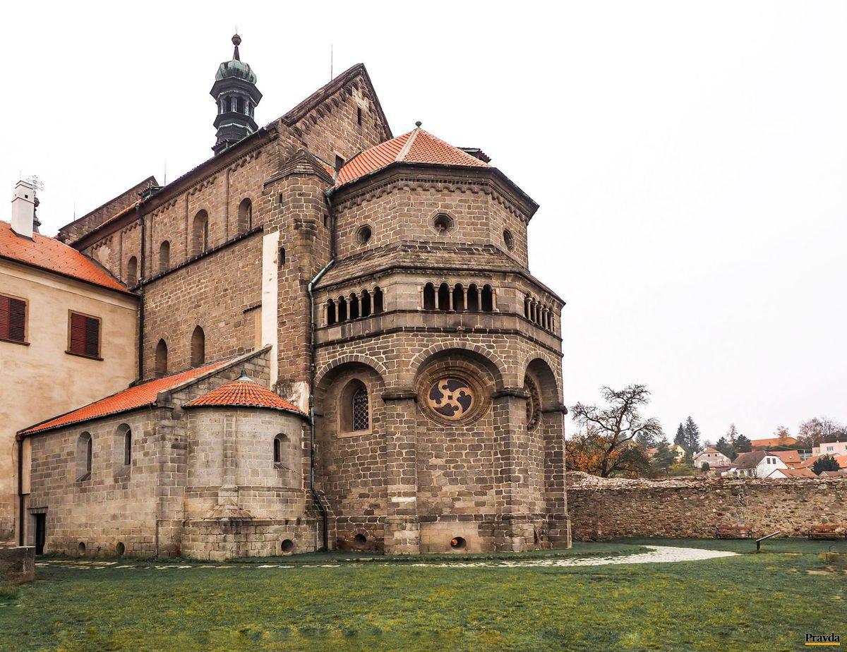 bazilika sv. Prokopa, Trebíč, Třebíč, česko, kostol, chrám