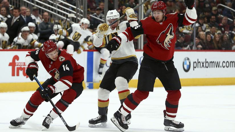 USA Hokej NHL Golden Knights Coyotes pánik