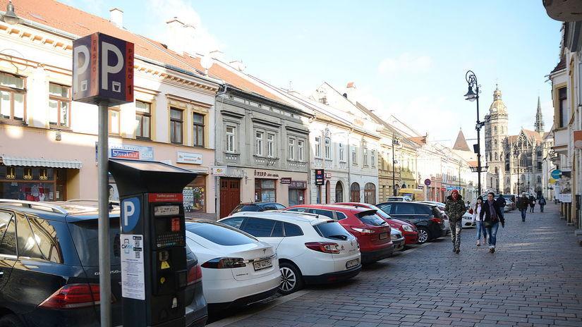 Košice Parkovanie centrum