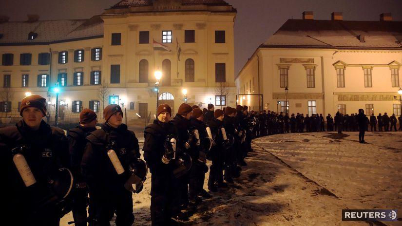 maďarsko, protest, orbán