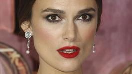 Keira Knightley - rúže na perách podľa Hollywoodu