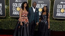 Herec Idris Elba, jeho dcéra Isan Elba (vpravo) a snúbenica Sabrina Dhowre.