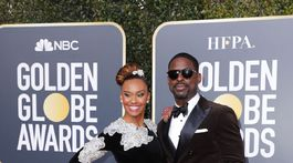 Herec Sterling K. Brown a jeho manželka Ryan Michelle Bathe.