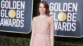Herečka Emma Stone prišla v kreácii Louis Vuitton.