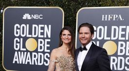 Manželia Felicitas Rombold a Daniel Bruhl. Bruhl bol aj nominovaný.