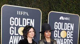 Manželský pár - herečka Sara Gilbert (vľavo) a hudobníčka Linda Perry.