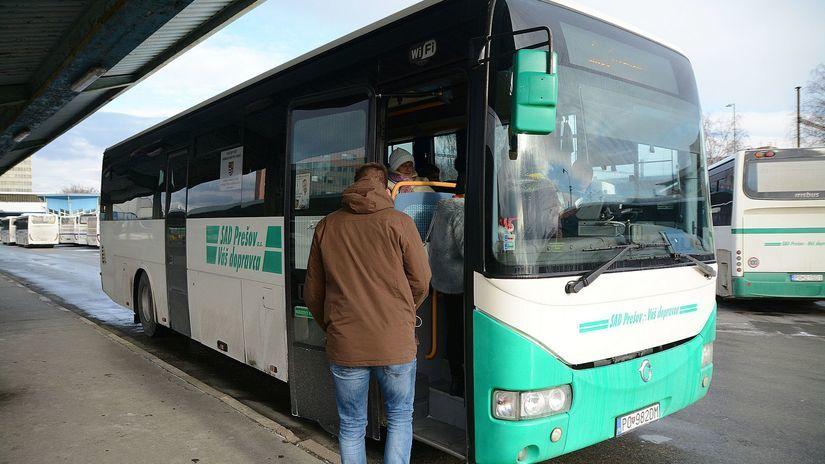 Prešov, autobus