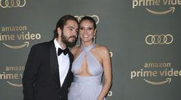 Snúbenci Tom Kaulitz a Heidi Klum na afterpárty Amazon Golden Globes.