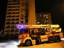 BANSKÁ BYSTRICA, požiar, bytovka, panelák, hasiči