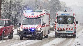 Bratislava počasie sneh doprava sanitka