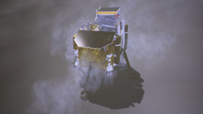 Čína Mesiac strana odvrátená sonda pristátie...