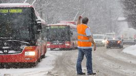 SR Bratislava počasie sneh doprava autobus vodič mhd