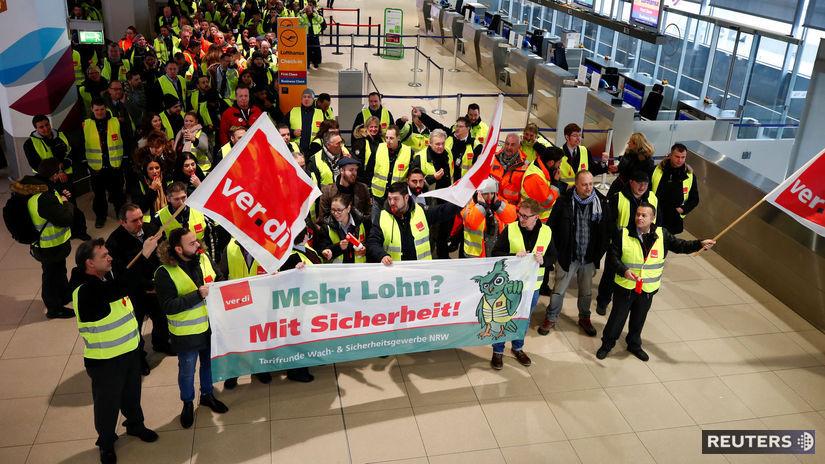 nemecko, štrajk, kolín, letisko