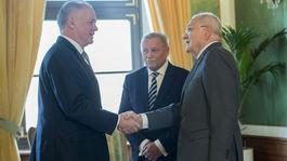 SR prezidenti Kiska, Schuster, Gašparovič obed spoločný BAX
