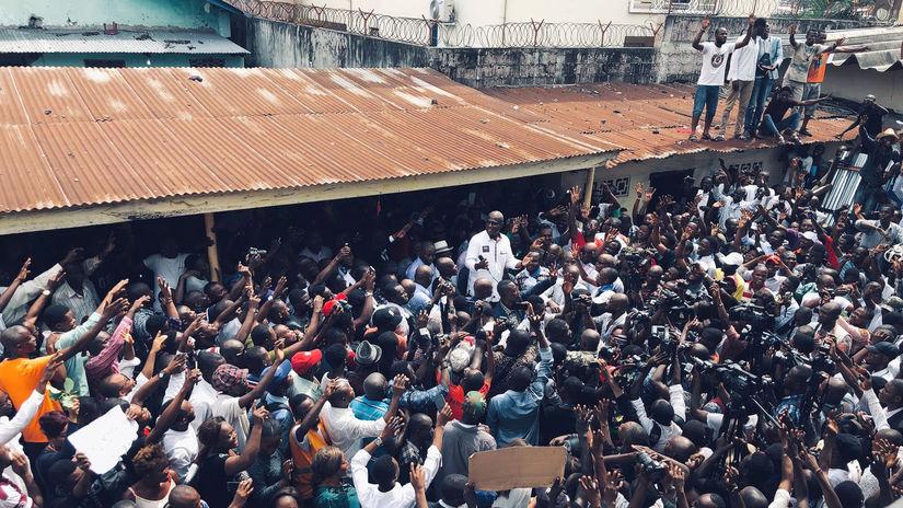kongo, afrika, protest, fayulu
