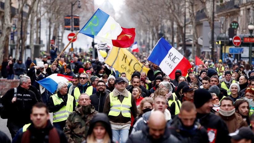 Francúzsko, žlté vesty, protest, paríž