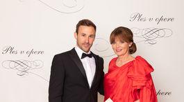 Generálna riaditeľka novej scény Ingrid Fašiangová a jej syn - herec Marek Fašiang.