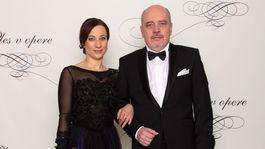 Herec Matej Landl a jeho manželka Jana Landlová.