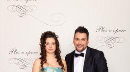 Prezident Asociácie organizácií zdravotne postihnutých občanov Marek Machata a jeho partnerka Laura Berková.