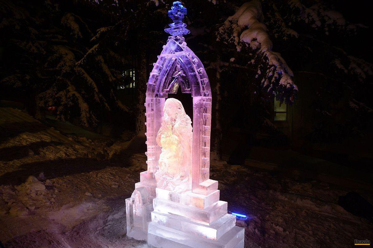 socha madona slovaci ľadová hrebienok tatry