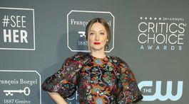 Herečka Judy Greer stavila na šaty Reem Acra.