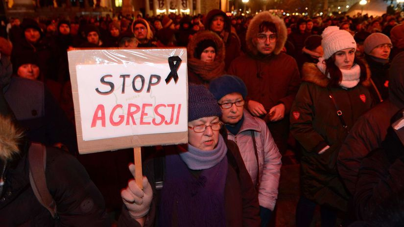 Pawoł Adamowicz, smrť, demonštranti