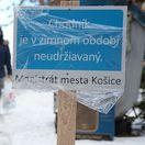 tabuľa, chodník, košice, údržba, sneh, odhŕňanie